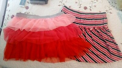 Set Of 2 Girls size XL 14/16 Skirts Really Cute! Great For Layering!