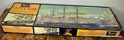 1964 Revell Model Kit Cutty Sark 1/96 H-394 With Rigging. New assembled!