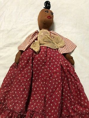 "Aunt Jemima/Mammy Toaster Cover Cloth & Doll - 22"" Folk Art Vintage"