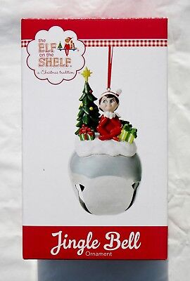 "Nib The Elf On The Shelf 5"" High Large Jingle Bell Christmas Ornament Decoration"