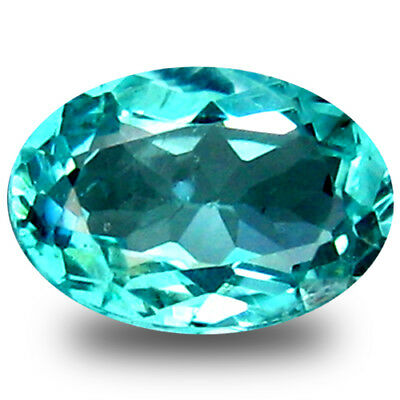 0.62 ct Flashing Oval Cut (6 x 5 mm) Natural Paraiba Blue Color Apatite Gemstone