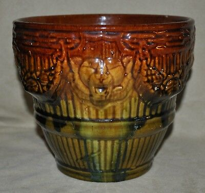 Vintage Brush McCoy Blended Glaze Lion Gargoyle Jardiniere Art Pottery Nice Mold