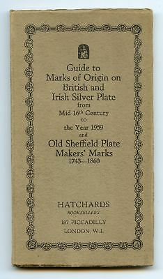 1959 Guide to Marks of Origin on British and Silver Assay Office Marks 1544-1959