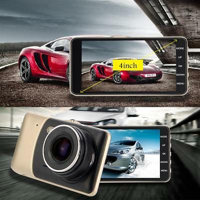 1080P 4'' Dual Lens Camera HD Car DVR Vehicle Video Dash Cam Recorder G-Sensor