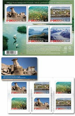 Canada 2015 Unesco Heritage error stamp set Souvenir and Booklet stamp