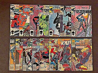 WEB OF SPIDER-MAN HUGE COMICS LOT OF 15!!  High Grade Early Issues!  Marvel