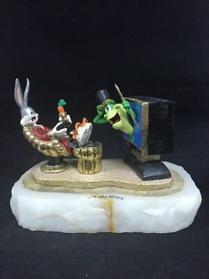 RON LEE Bugs Bunny WB Frog Sculpture Looney Toons Warner Brothers Signed SG2