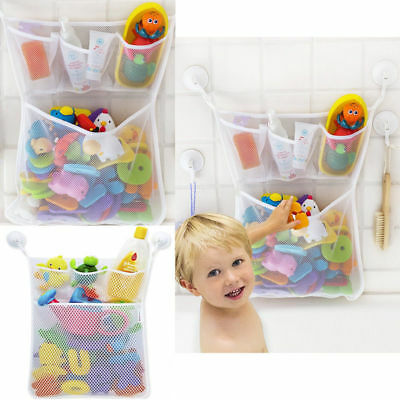 Bath Tub Organizer Bag Holder Storage Basket Kids Baby Shower Toys Net Bathtub