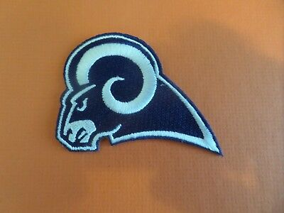 Los Angeles Rams Blue & Silver Embroidered Iron On Patches  2-1/2 X 3-1/2