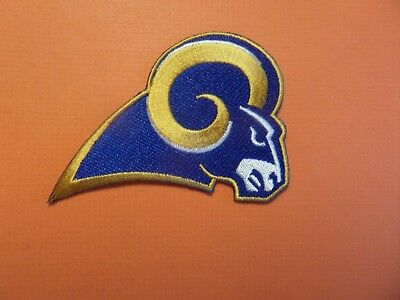 Los Angeles Rams Blue & Gold Embroidered Iron On Patches  2-1/2 X 3-1/2