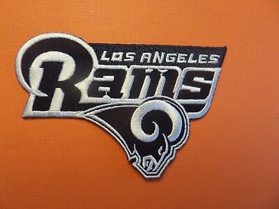 Los Angeles Rams Blue & Silver Embroidered Iron On Patches  2-3/4 X 4-1/4