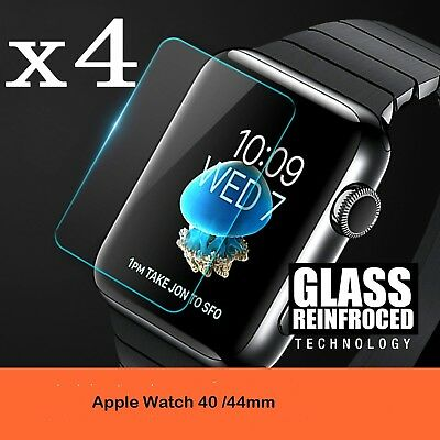 Apple Watch Series 4/3/2/1 40MM/44MM 9H Tempered Glass Screen Protector Film 4PK
