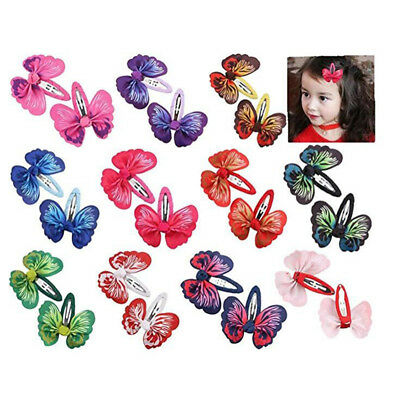 Baby Girl Hair Clips Toddlers Infants Kids Hair Butterfly Snap Clips Barrettes