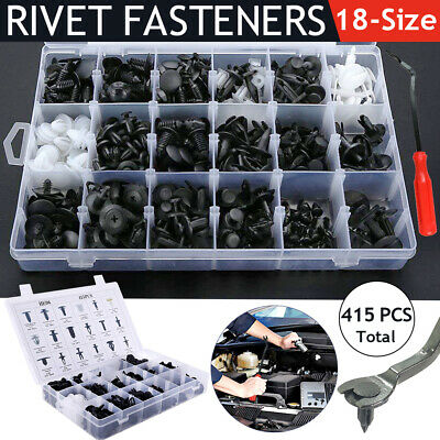 350PCS Auto Car Body Rivets Plastic Push Pin Fasteners Trim Panel Moulding Clips