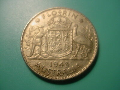 Australia - Silver - 1943 1-Florin In Very Nice Condition