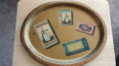 1900s Walter Baker Chocolate Litho Tin Tray La Belle Chocolatiere Dorchester MA