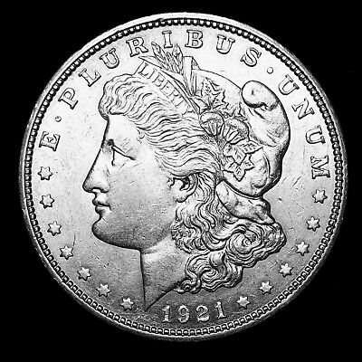 1921 D ~**ABOUT UNCIRCULATED AU**~ Silver Morgan Dollar Rare US Old Coin! #Y63