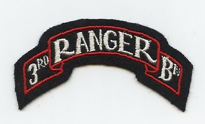 3rd Ranger Battalion Scroll Patch WWII US Army