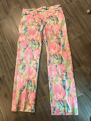 Vintage floral mens pants by David Smith hipster size 36/34 pink blue green