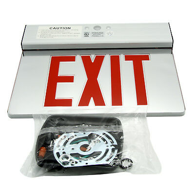 Red LED Emergency Exit Light Sign Acrylic Panel Battery Backup Indoor Sign with