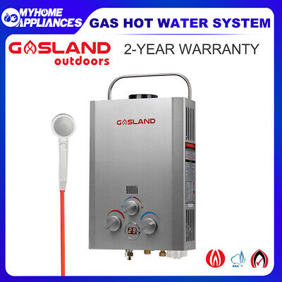 GASLAND Portable Gas Hot Water Heater Camping Shower Caravan LPG Outdoors 4WD
