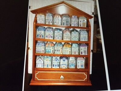 Brand New Lenox Spice Village Set With 24 Houses And Display Rack