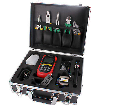FTTH Tool 10mW Optical Fiber Cleaver Tool Kit Visual Fault Locator FC-6S Cleaver