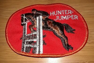 PATCH HUNTER JUMPER Horse Rider English Red Embroidered Red River Western Co