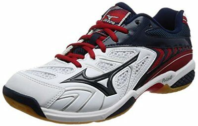 Mizuno badminton shoes Wave Fang SS2 wide 14 white  navy  red 27.0