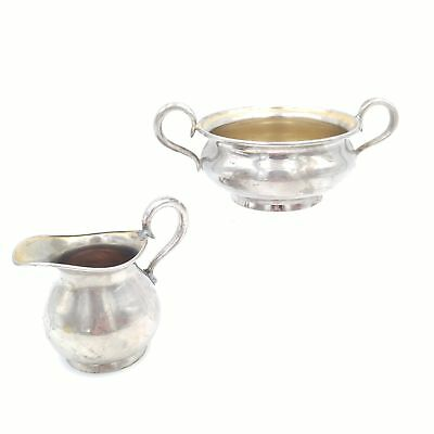 Antique Silver Plate Creamer and Sugar Bowl - Universal Landers Frary & Clark