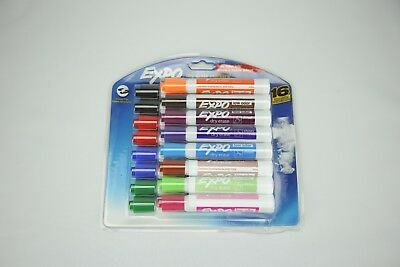 Expo Low-Odor Dry Erase Markers, Chisel Tip, 16-Pack, Assorted 16-Count