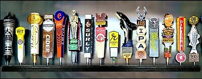 Lot Of 2 15 Beer Tap Handle Displays Black Finish Wall Mount Includes Brackets