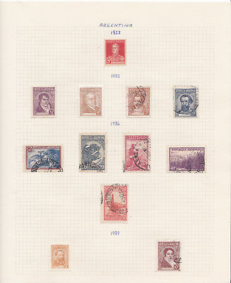 Argentina stamp collection on album pages