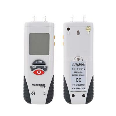 Digital Manometer Differential Gauge Air Pressure Meter Data Hold 11 Units H3E6