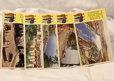 Set of 5 Vintage Military State of Washington Postcard 1940's Armed Services