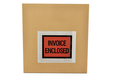 """Invoice Enclosed 4.5"""" x 5.5"""" Full Face Shipping Mailing Envelope 10000 Pieces"""