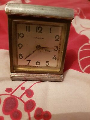 junghans vintage travel alarm clock in working order sold as seen