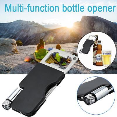 Camping LED Light Keychain Beer Opener Durable Small Stainless Steel Opener