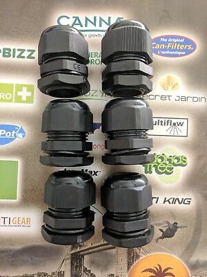IWS System Pipe Assembly 25mm Universal Sealing Gland Spares 6 Pack Hydroponics