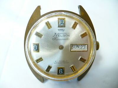 Vintage Mens Watch Nelson Supermaster 21 Jewels Mechanical Wind Up