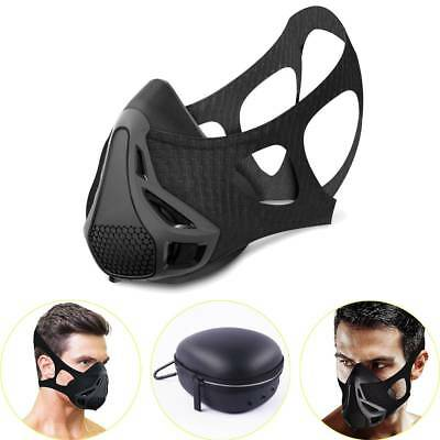 High Altitude Elevation Training Mask Carry Case Fitness Workout Cycling Sports