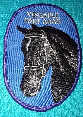 Vintage PATCH VERSATILE PART ARAB Arabian Horse Embroidered Red River Western Co