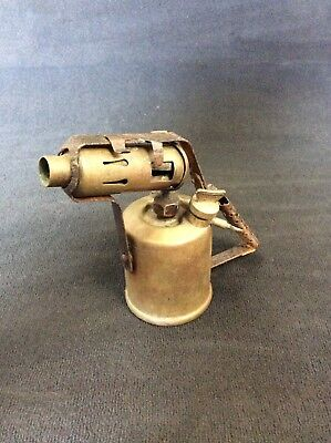 Vintage Paraffin Brass Blow Torch, Retro, Made To Desk Lamp, Collectable Project