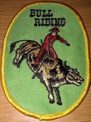PATCH BULL RIDING Rodeo Cattle Bucking Cowboy Embroidered Red River Western Co
