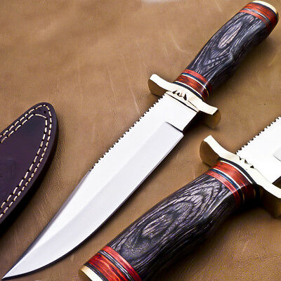 Superb Hand Made Stainless Steel Hunting Knife- Hard Wood- M-6642