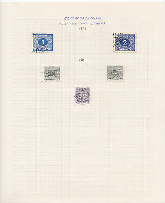 Czechoslovakia stamp collection on album pages