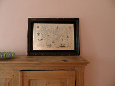Die Weltkarte The Royal Geographical Society Silver Map