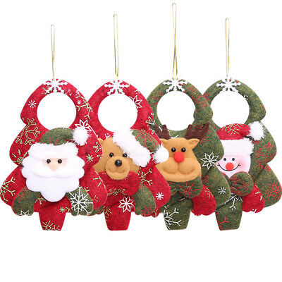 Christmas Santa Claus Snowman Elk Doll Toy Xmas Tree Hanging Ornaments