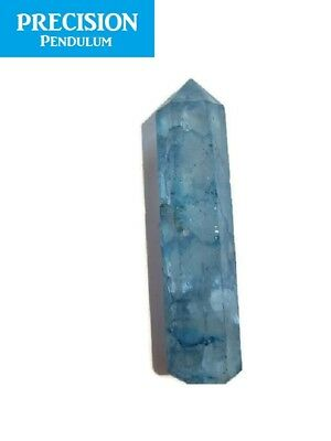 Aqua Aura Crackle Quartz Healing Magic Grid Pencil Point Gemstone Crystal