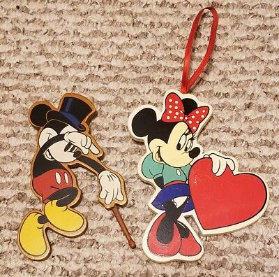 disney christmas magnets mickey mouse minnie mouse ornaments wooden set - Mouse Decorations Christmas